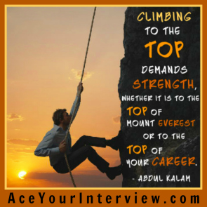 2 Victoria LoCascio Ace Your Interview Job LinkedIn Profile Abdul Kalam Quote Climbing to the top demands strength whether