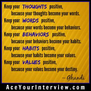 148 Ghandi Quote Victoria LoCascio Ace Your Interview LinkedIn Profile The Aces Company