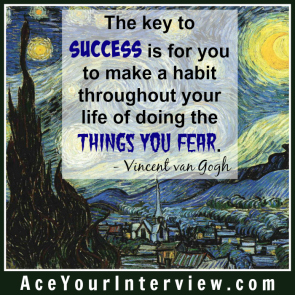 151 Vincent van Gogh Quote Victoria LoCascio Ace Your Interview LinkedIn Profile The Aces Company
