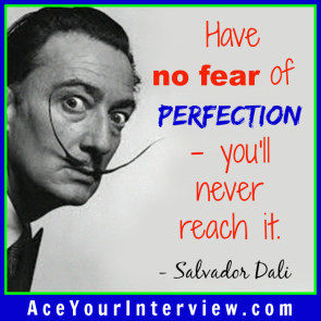159 Salvador Dali Quote Victoria LoCascio Ace Your Interview LinkedIn Profile The Aces Company
