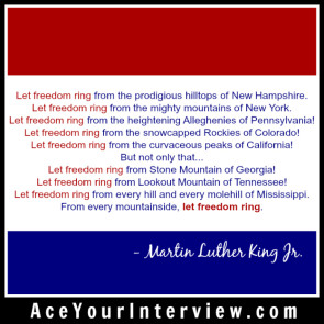 x JULY 4 Martin Luther King Victoria LoCascio Ace Your Interview LinkedIn The Aces Company