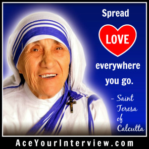 174 Saint Mother Teresa Quote Victoria LoCascio Ae Your Interview LinkedIn