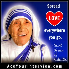 174 Saint Mother Teresa Quote Victoria LoCascio Ae Your Interview LinkedIn