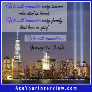 George Bush 911 Quote Victoria LoCascio Ace Your Interview LinkedIn