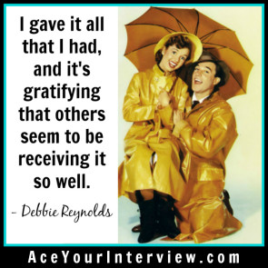 Debbie Reynolds Victoria LoCascio Ace Your Interview