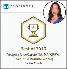 LinkedIn Victoria LoCascio Ace Your Interview Award