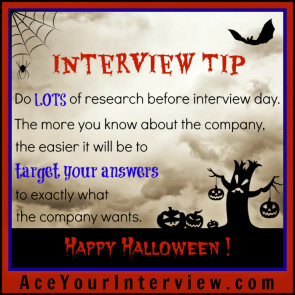 Tip 1a Halloween Victoria LoCascio The Aces Company Ace Your Job Interview LinkedIn Profile