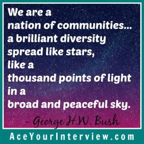 George Bush Victoria LoCascio Ace Your Interview